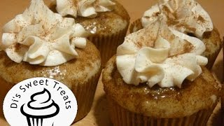 Churro Cupcakes With Cinnamon Cream Cheese Frosting- Di's Sweet Treats