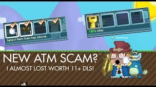 Growtopia NEW ATM Scam Fail! (I Almost lost my RAYMAN!)
