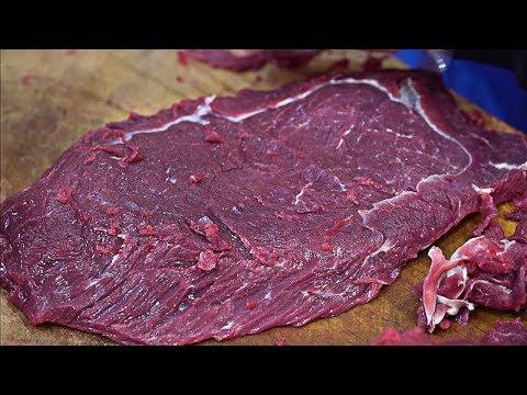Korean Street Food - EDIBLE RAW BEEF   Seasoned Yukhoe