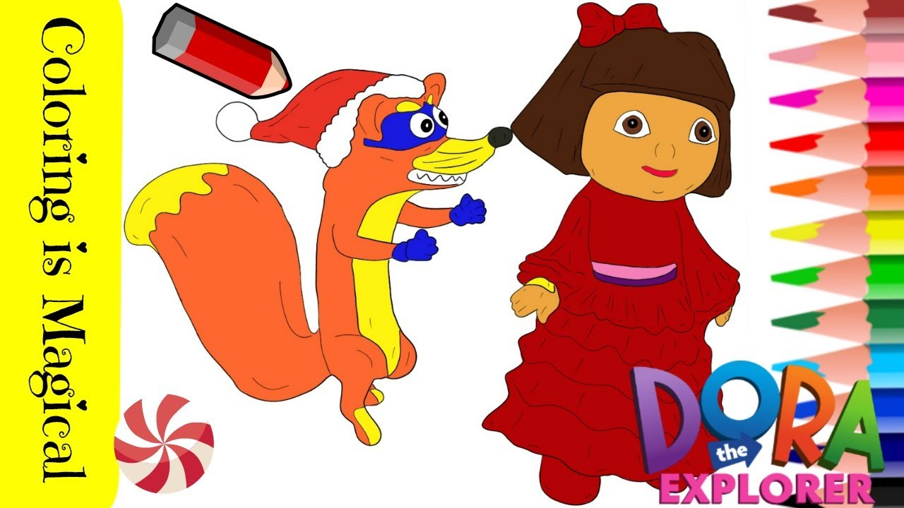 Dora Marquez, Monkey Boots, Lion and Swiper coloring page | Free Printable  Coloring Pages | 720x1280