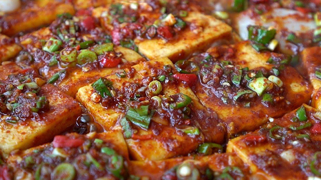 만만한 국민반찬 두부조림. 실패하면 ㅂㅂ~ Braised Tofu. 양념장 만드는 법. korean food