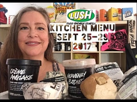 Lush Kitchen Menu Sept 25-29 2017 - YouTube