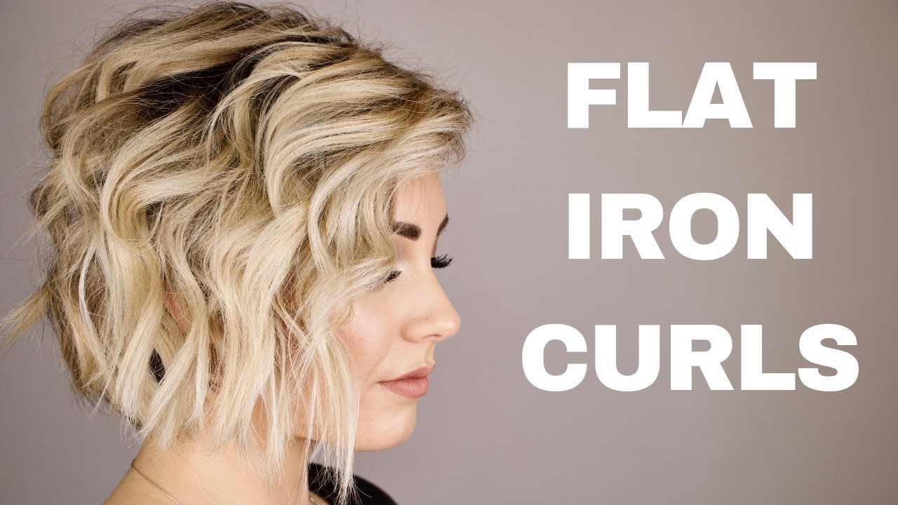 how to style short hair with curling iron how to curl with a flat iron hair 7125 | maxresdefault