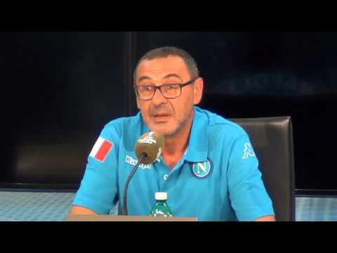 Maurizio Sarri presenta Napoli-Bruges 16-09-2015