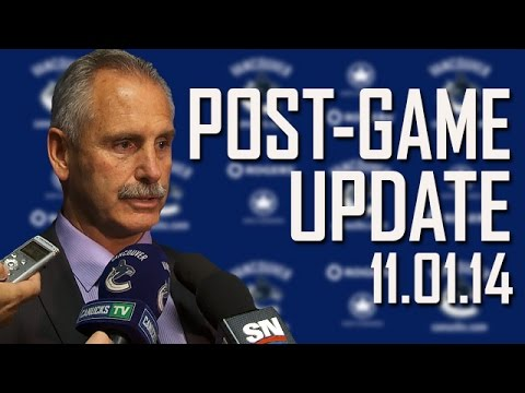 Willie Desjardins Post-Game in Edmonton (Nov. 1, 2014)