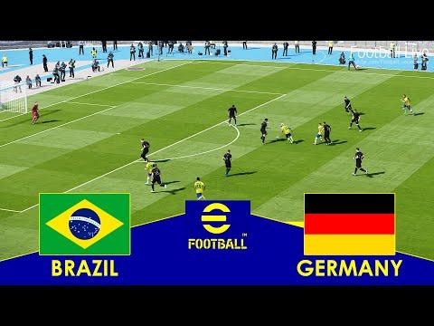 BRAZIL vs GERMANY - Full Match All Goals HD | eFootball PES 2021