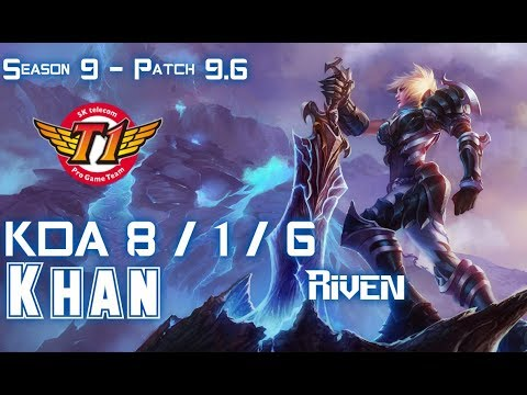 SKT Khan RIVEN vs MALPHITE Top - Patch 9.6 KR Ranked