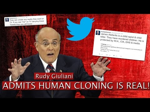 Rudy Giuliani ADMITS HUMAN CLONING IS REAL!