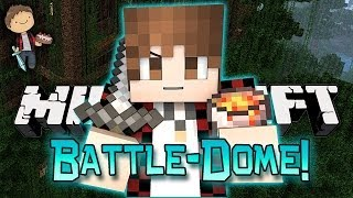 Minecraft: BATTLE-DOME w/Mitch & Friends Part 1 - ROOFTOP FOREST SCARINESS!