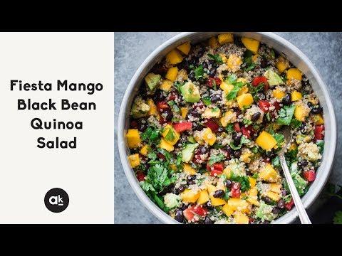 Fiesta Mango Black Bean Quinoa Salad