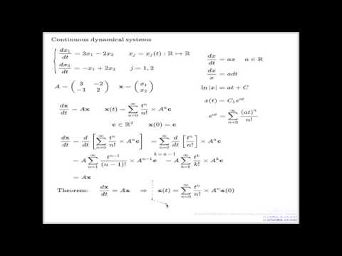 Lecture 23    Continuous time dynamic systems