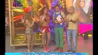 Esto es Guerra: Angie sorprende a Nicola - 06/12/2012