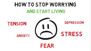 HOW TO STOP WORRYING AND START LIVING (HINDI)- HOW TO REDUCE STRESS,DEPRESSION,ANXIETY,WORRIES