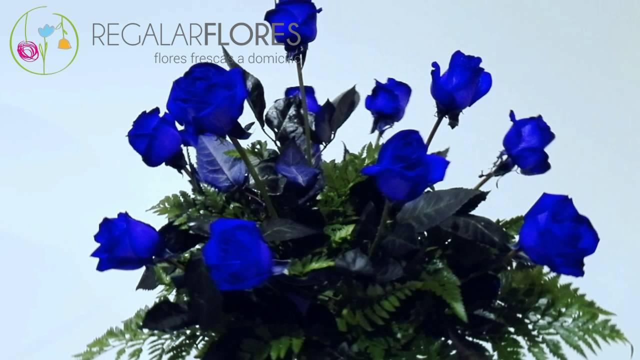 59b91fc23 Ramo de rosas azules - YouTube
