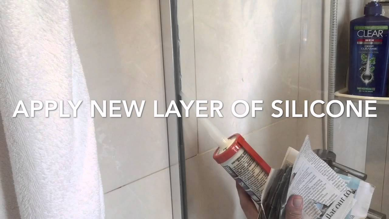 Replace Silicone Seal On Shower Screen Youtube