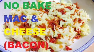 No Bake Mac And Cheese With Bacon-kitchen Channel