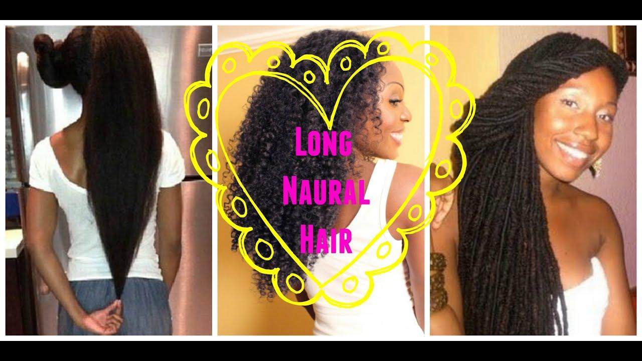 Long Natural Hair 50 Examples Black Women Can Grow Long Hair