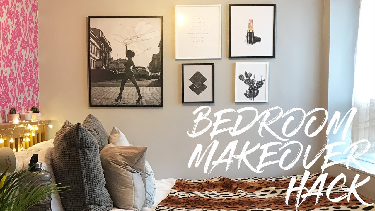 EXTREME BEDROOM MAKEOVER (PART 2) 2017| CHEAP FURNITURE HACK, DESENIO AND  CHRISTMAS DECOR IDEAS