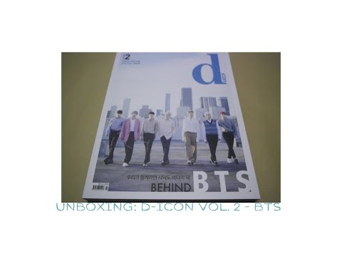 UNBOXING   D-icon 디아이콘 : vol.02 방탄소년단 Behind the scene [2018]