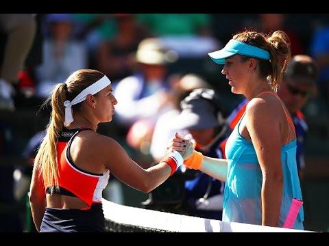 2017 BNP Paribas Open Fourth Round   Pavlyuchenkova vs Cibulkova   WTA Highlights
