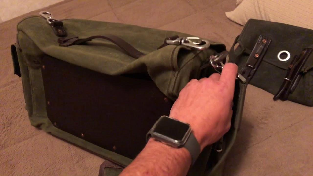 597629b07a Saddleback Leather Waxed Canvas 5 Pocket Duffel - YouTube