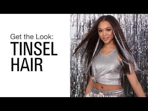 Tinsel Hair Tutorial: Holiday Hairstyles 2019
