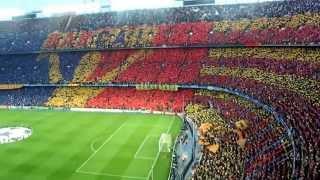 Tifo FC Barcelona vs Inter Milan CL semi final 2010