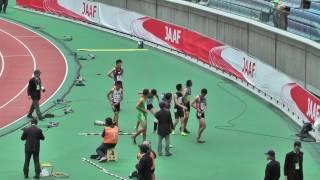 B男子 100m 予選6組(+0.0) 1.11.05 Q マデロ ケンジ (佐野城東・栃木...
