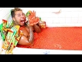 HOT CHEETOS AND TAKIS BATH CHALLENGE!!!