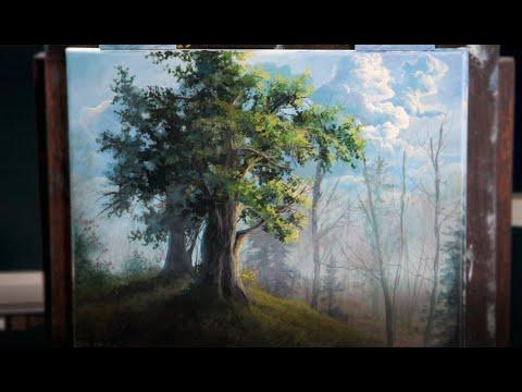 EASY BEGINNER ACRYLIC Tree Painting