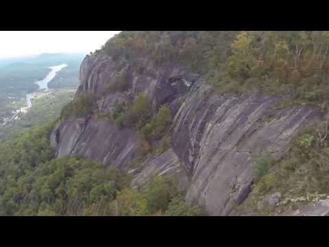 Lake Lure, Hickory Nut Falls, Chimney Rock Aerial Flyby Promotional