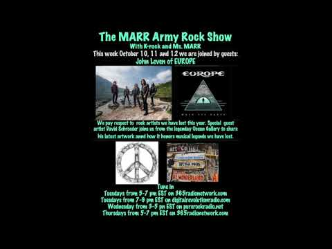 Europe's John Leven on The MARR Army Rock Show 10-10-17