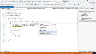 C# Debugging in Visual Studio 2019 Tutorial – Part 1