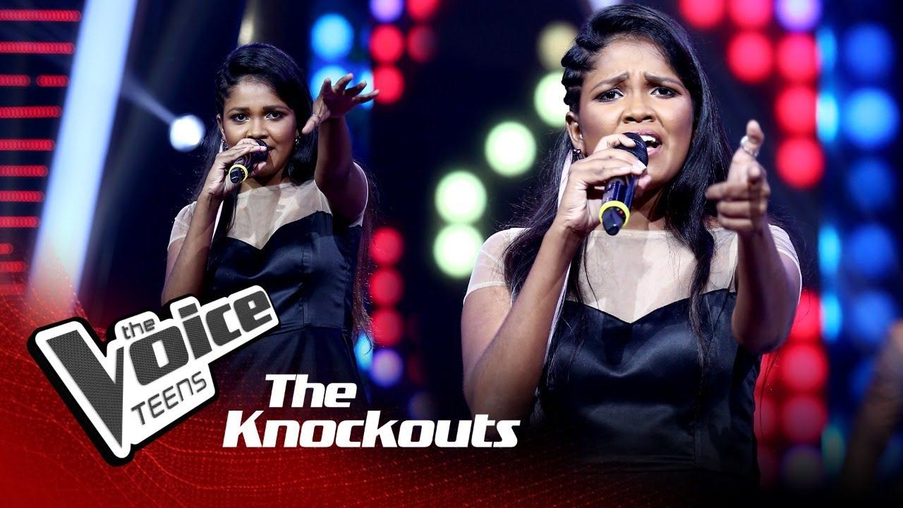 Nilmi Isanka | Yowun Sihina Loke (යොවුන් සිහින ලෝකේ) | Knockouts | The Voice Teens Sri Lanka