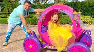 Nastya le pide a su papá nuevos vestidos y juguetes de maquillaje