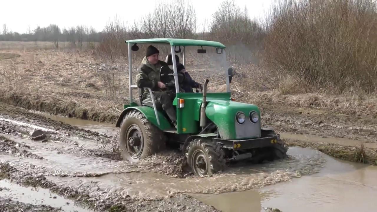 Off-Road на весеннем бездорожье. Самодельные трактора 4x4, НИВА, GEEP GRAND CHEROKEE