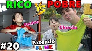 RICO VS POBRE FAZENDO AMOEBA / SLIME #20
