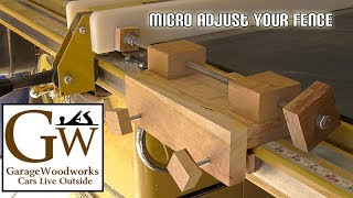 Micro Adjust Your Table Saw