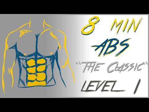 8 Mins abs workout - Level 1