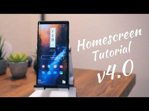 Homescreen Setup Tutorial V4.0! [Step By Step]