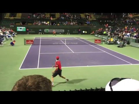 Donald Young vs. Andreas Seppi Highlights at Indian Wells 2016 [Court Level View HD]