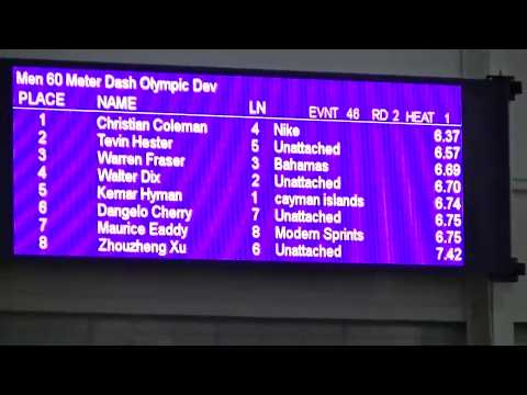 Christian Coleman BREAKS 60m Indoor World Record - Nuffin' Long Athletics