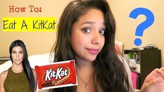 How To Eat a Kit Kat (Kourtney Kardashian Style)
