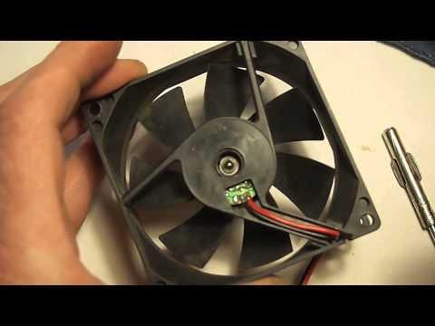 как смазать вентилятор
