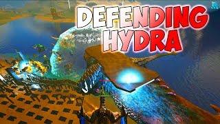 Defending Hydra vs Gang Gang Server 10   Official PvP   ARK Survival Evolved Gameplay