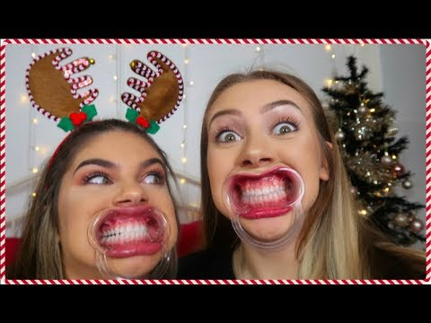 MOUTH GUARD CHRISTMAS CHALLENGE WITH MY SISTER | Sophie Clough