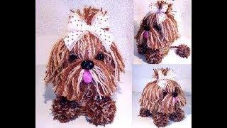 Собачка из банки. Handmade dog