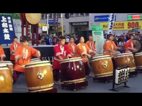 Exciting Japanese Taiko Drummers and Dancers - Festival 祭り Tokyo Japan #3