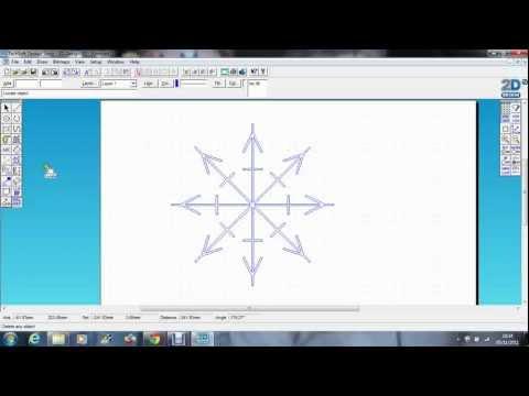 Techsoft 2D Design- Snowflake