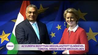 Az Európai Bizottság megválasztott elnökével tárgyal Orbán Viktor Brüsszelben